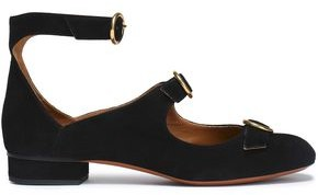 Chloé Buckled Suede Ballet Flats