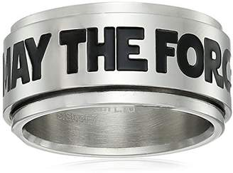 Star Wars Jewelry May The Force Be with You Stainless Steel Spinner Ring