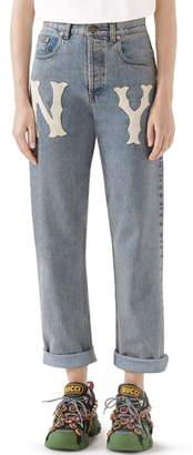 Gucci NY Patch Boyfriend Jeans