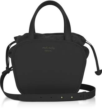 Meli-Melo Rosetta Black Leather Crossbody Bag