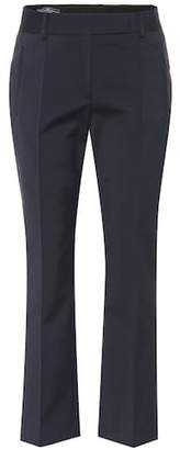 Salvatore Ferragamo Cropped cotton-blend pants