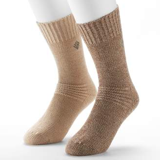 Columbia Men's 2-pack Fleece-Lined Wool-Blend Crew Socks
