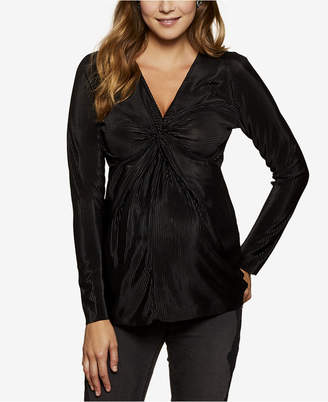 Jessica Simpson Maternity Ruched V-Neck Top