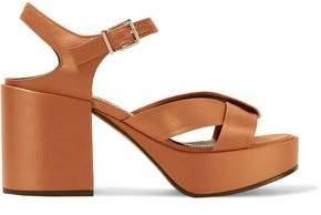Jil Sander Satin Platform Sandals