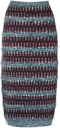 Carven ethnic knit pencil skirt