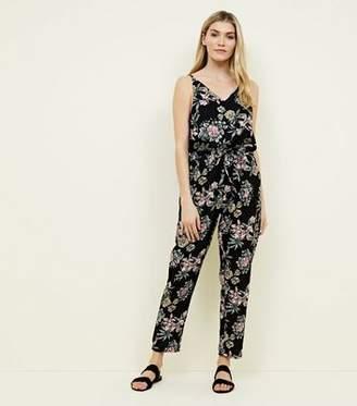 Yumi Black Floral Jumpsuit