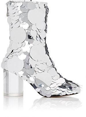 Maison Margiela Women's Paillette-Embellished Leather Ankle Boots $2,290 thestylecure.com