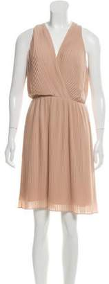 Halston Pleated Midi Dress