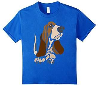 Smiletodaytees Cool Basset Hound Dog Abstract Art T-shirt