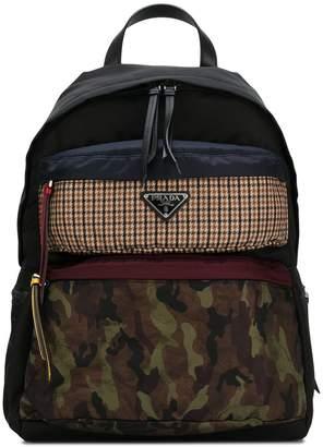 Prada contrast panel backpack