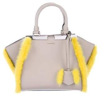 Fendi 2018 Mini Fur-Trimmed 3Jours Bag