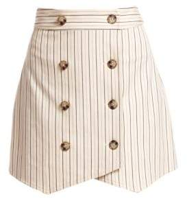 Derek Lam 10 Crosby Striped Double-Breasted Mini Skirt