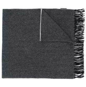 Canada Goose fringed knitted scarf