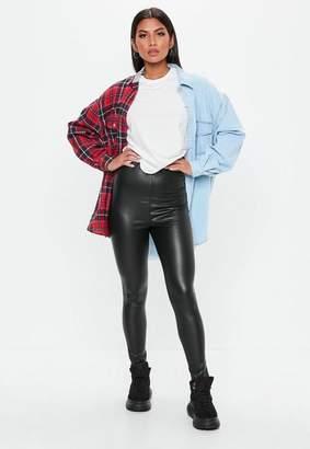 Missguided Tall Black Matte PU Leggings