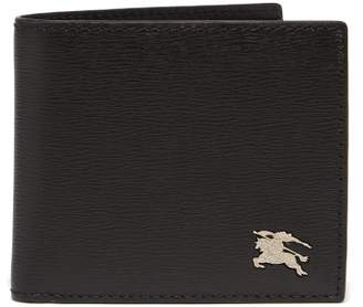 Burberry London Leather Bi Fold Wallet - Mens - Black