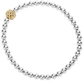 Lagos Caviar Icon Ball Stretch Bracelet, Size Medium