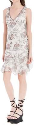 Max Studio Crinkled Chiffon Printed Dress