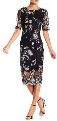 Marina Embroidered Midi Dress