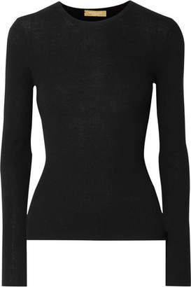 Michael Kors Ribbed Cashmere Sweater - Black