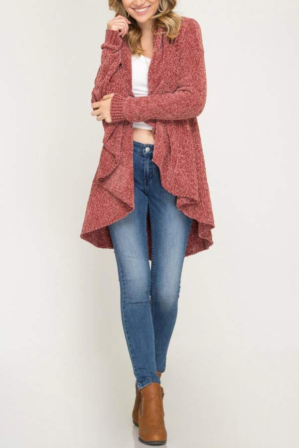She + Sky Chenille Sweater Cardigan