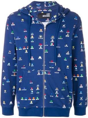 Love Moschino desktop print hoodie