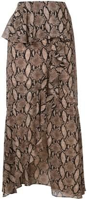 GOEN.J snake print skirt