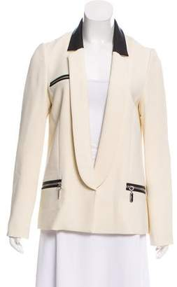 Thomas Wylde Casual Leather-Accented Blazer w/ Tags