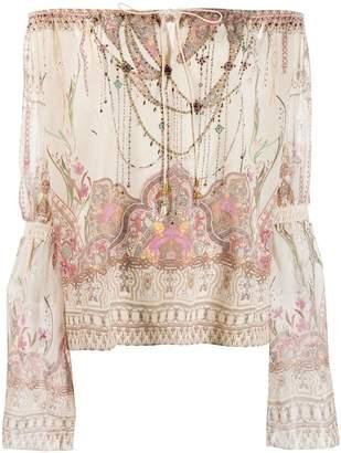 Camilla off shoulder printed blouse