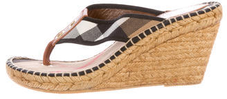 Burberry  Burberry Prorsum House Check Espadrille Wedges