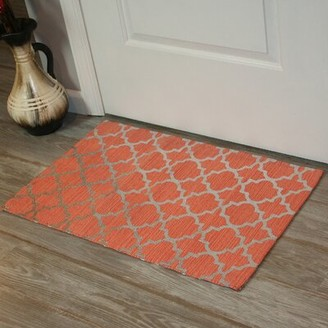Ess Ess Exports Foil Print Hand-Woven Coral Area Rug Ess Ess Exports