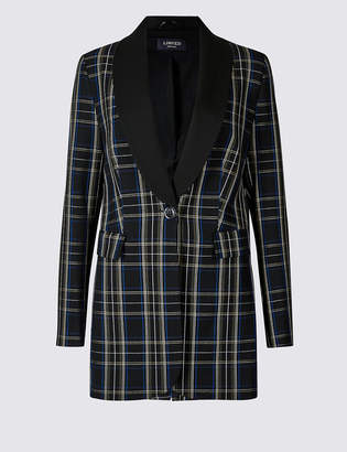 Limited Edition Checked Single Breasted Blazer