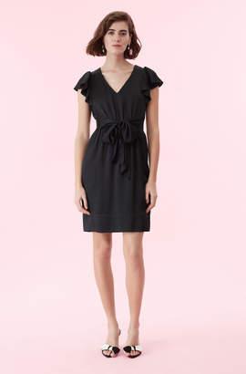Rebecca Taylor Hammered Silk V-Neck Dress