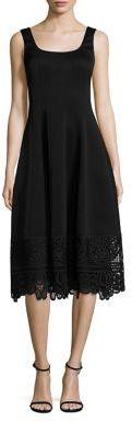 Nanette Lepore Let's Elope Lace Hem Dress $498 thestylecure.com