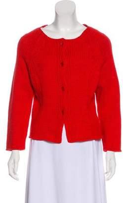 Alberta Ferretti Knit Button-Up Cardigan