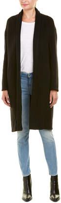Vince High-Collar Camel & Wool-Blend Coat