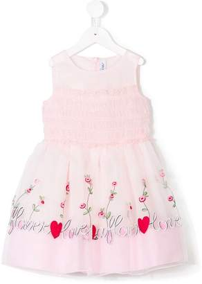 Simonetta embroidered floral dress