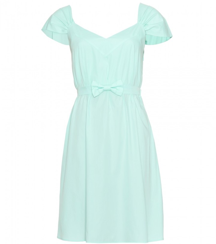 Miu Miu BELTED COTTON DRESS
