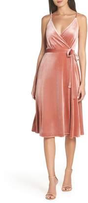 Ali & Jay Baby Love Velvet Wrap Dress