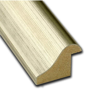 Amanti Art Warm Silver Swoop 20x14 Framed Grey Cork Board