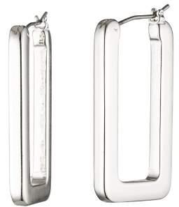 Ralph Lauren Rectangular Hoop Drop Earrings