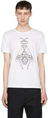 Fendi White Crystal-Embellished Super Bugs T-Shirt