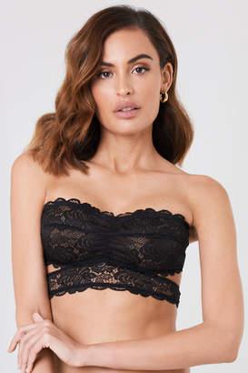 4a76f4b11ea Lace Bandeau Bra With Straps - ShopStyle UK