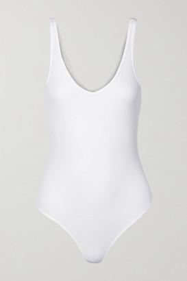 ATM Anthony Thomas Melillo Ribbed Stretch-micro Modal Thong Bodysuit - White