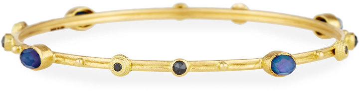 ArmentaArmenta Sueno 18k Sapphire Triplet Bangle w/ Diamonds