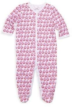 Baby Girl's Love Birds Footie Pajamas