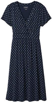 L.L. Bean (エルエルビーン) - サマー・ニット・ドレス、半袖 プリント