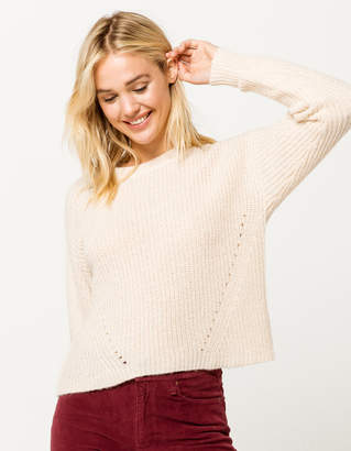 Ivy & Main Basic Cream Womens Sweater