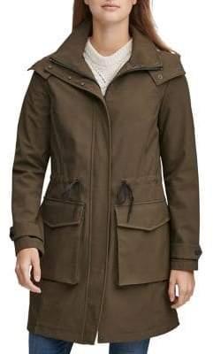 Andrew Marc Meadowmere Hooded Raincoat