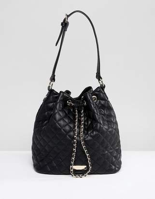 Carvela Quilted Across Body Bucket Bag