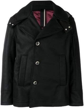 Low Brand hooded fitted coat